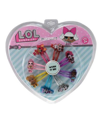 LOL Surprise Accessory Hair Snap Clips Queen Bee Crystal Queen W//6pc Hair Ponies