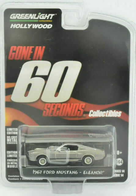 1967 FORD MUSTANG ELEANOR Gone In 60 Seconds Greenlight Limited Edition 1//64 New