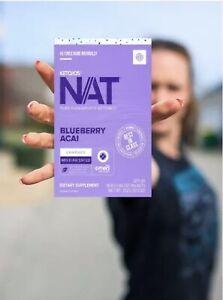 Pruvit Keto OS Nat Blueberry Acai Charged (Caffeine) - 20 pack ***SALE***