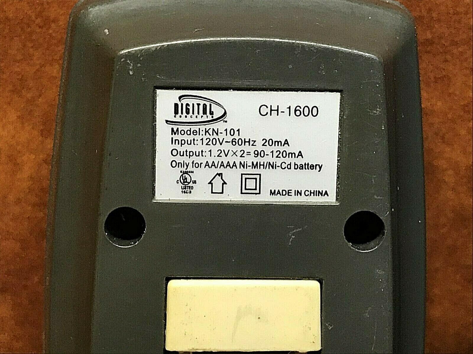 (2) DIGITAL CONCEPTS Compact Travel Battery Chargers AA/AAA Ni-Cd ~ CH-1600's
