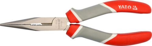 2er Kraft Spitzzange Elektriker Telefon Zange Gerade Gebogen 200mm Radiozange
