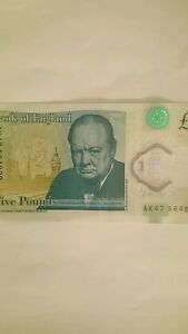GENUINE-AND-VERY-RARE-SPECIAL-POLYMER-AK47-5-Pound-Note-THIS-NOTE-IS-UNIQUE