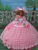 Crochet Fashion Doll Pattern-ics Designs-26 Painted Daisies