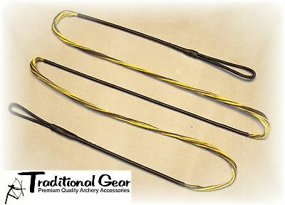 "Brown B50 Dacron 48/"" 52 AMO Recurve Bow String 14 Strands Bowstring"