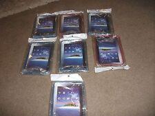 Lote de 7 X De trabajo Nuevo Sellado Galaxy Tab/P1000 I Pad casos Rojo y Azul maletero?
