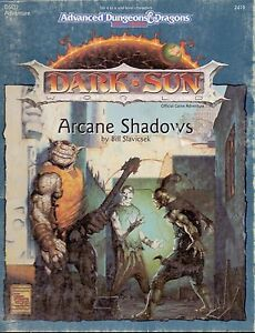 RPG-JEU-DE-ROLE-AD-amp-D-2-DARK-SUN-ARCANE-SHADOWS-INCOMPLET