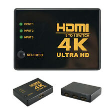 4K HDMI Switch Switcher Box Selector 3 In 1 Out Audio Extractor Hub Splitter