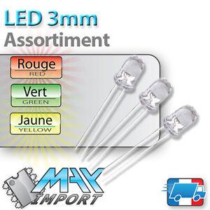 LED-3mm-Assortiment-rouges-vertes-jaunes-Clear-Compatible-Arduino