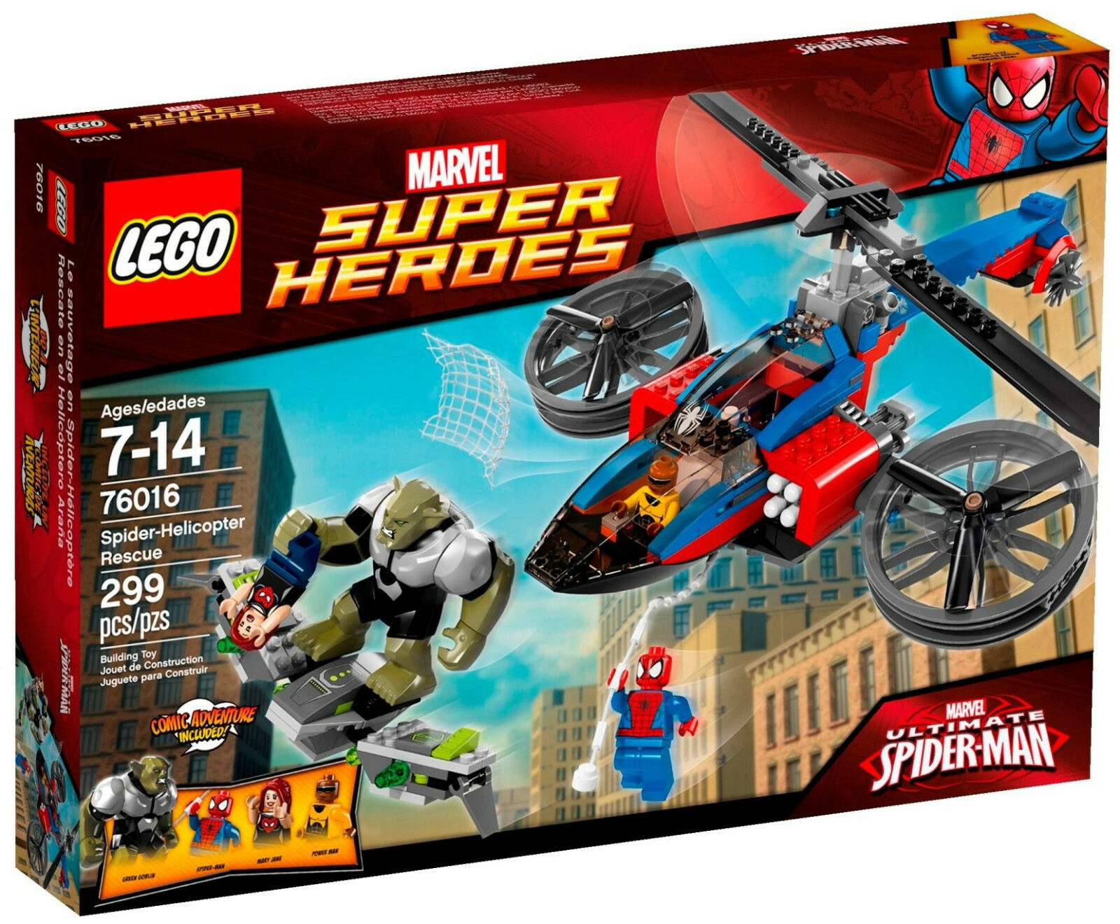 Lego Marvel Super Heroes 76016 Spider-Helicopter Rescue Spiderman 2014 NEW Seale