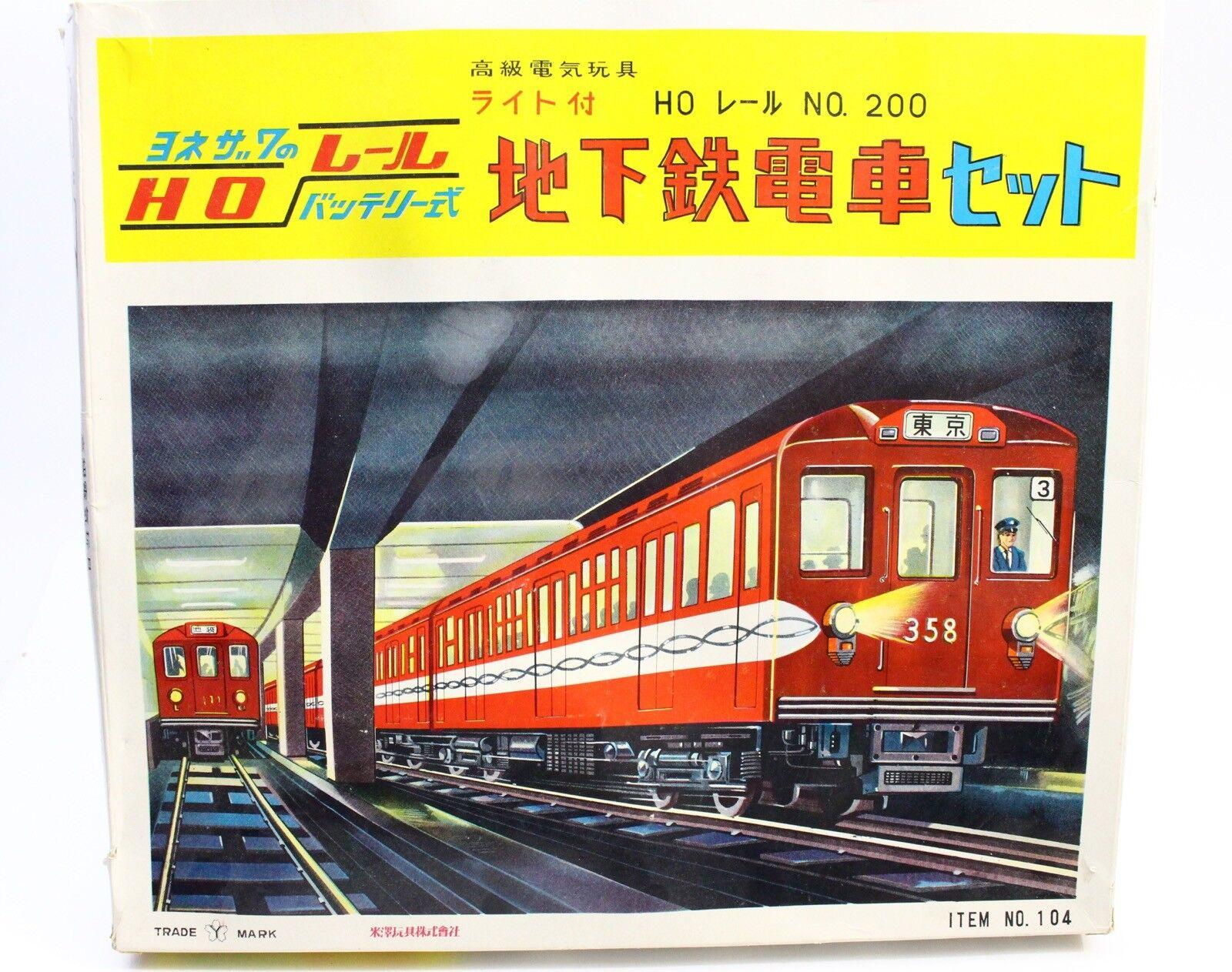 echa un vistazo a los más baratos Yonezawa Japón Conjunto Conjunto Conjunto de tren de pasajeros HO Estaño alimentado por batería Nº 200  104  genuina alta calidad