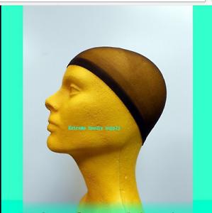 brown Man boy BREATHABLE Elastic STOCKING WAVE NYLON Du Rag Skull beanie Cap hat