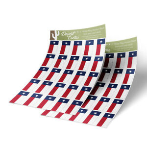 Texas-Flag-Sticker-Decal-1-034-Rectangle-Two-Sheets-50-Total-Stickers