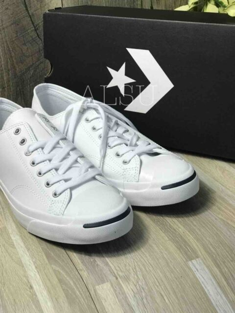 Sneakers Men's Converse Jack Purcell Lea Leather Low Top White Navy 1S961