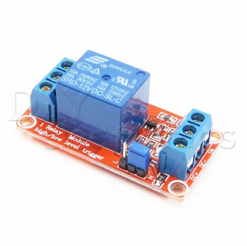1-Channel H//L Level Triger Optocoupler Relay Module Arduino 5V//9V//12V//24V US