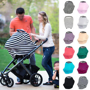 Hot! Stretchy Newborn Infant Nursing Cover Baby Car Seat Kids Canopy Cart Cover