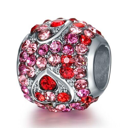European Silver Charms Minnie Cartoon Beads Gifts CZ Pendant Fit 925 Bracelets
