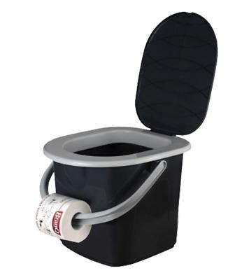 Branq Seau toilettes Camping Toilettes 15,5 L bateaux tentes Festivals Camper