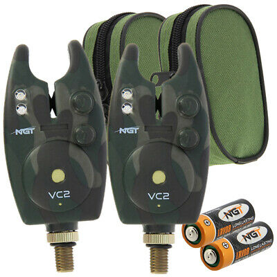 1 x Waterproof Fishing Bite Alarms with Volume+Tone Control and Battery