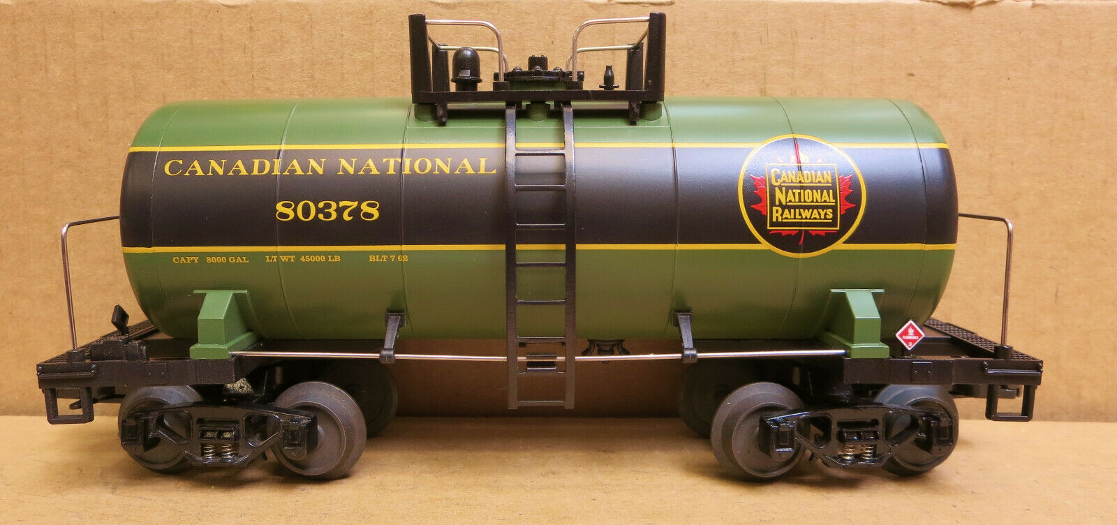 MTH 20-96079 Canadian National Tank Car 80378 PREPRODUCTION W Papers MIB O-GAUGE