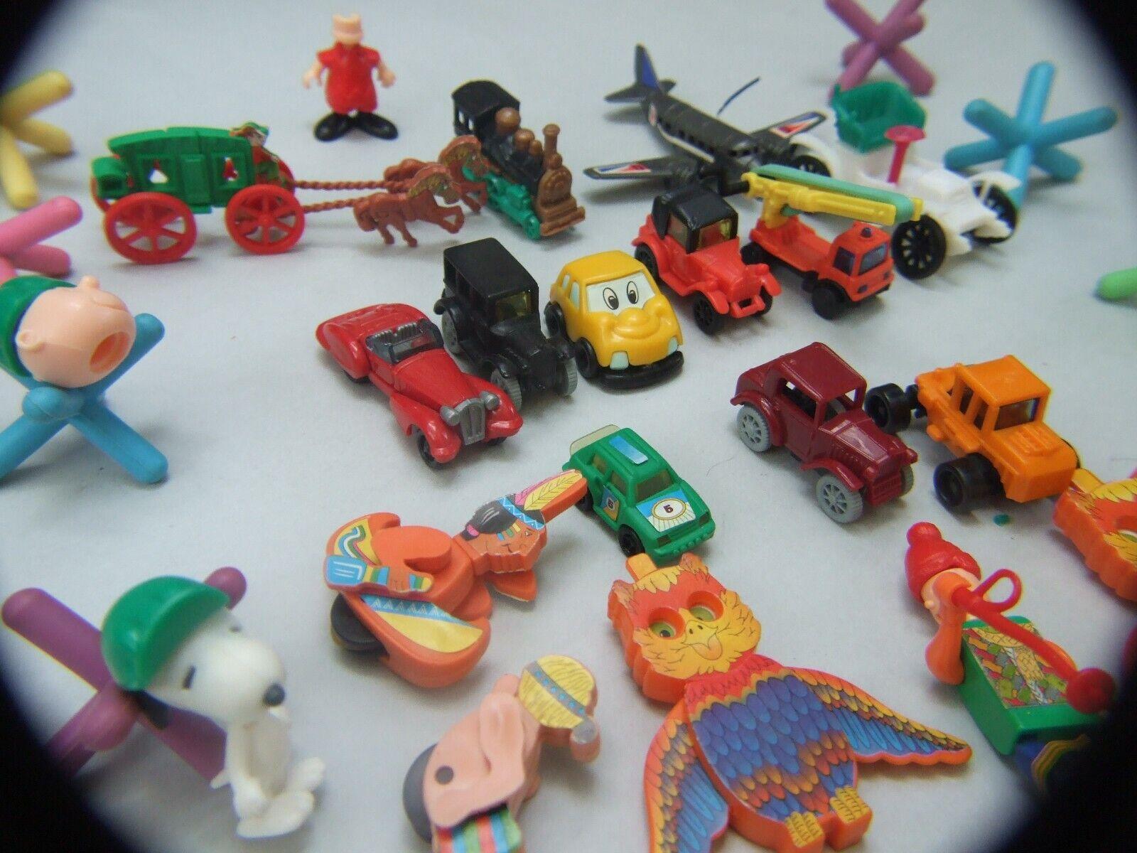 Juguetes de plástico en miniatura colourfull Vintage Made In Hong Kong Años 60