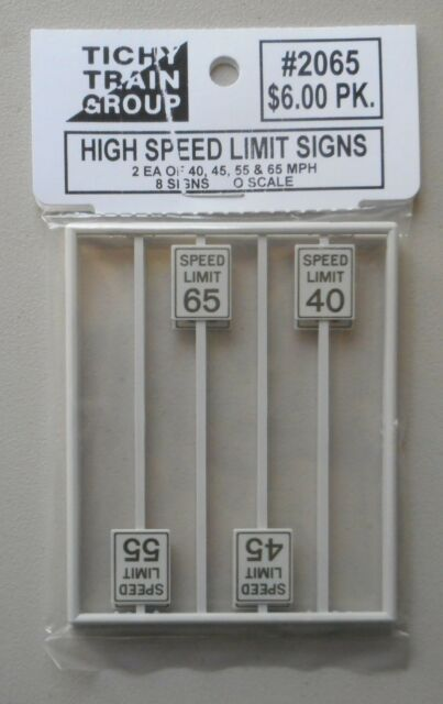 HO Scale Speed Limit 10 MPH 4 Pack