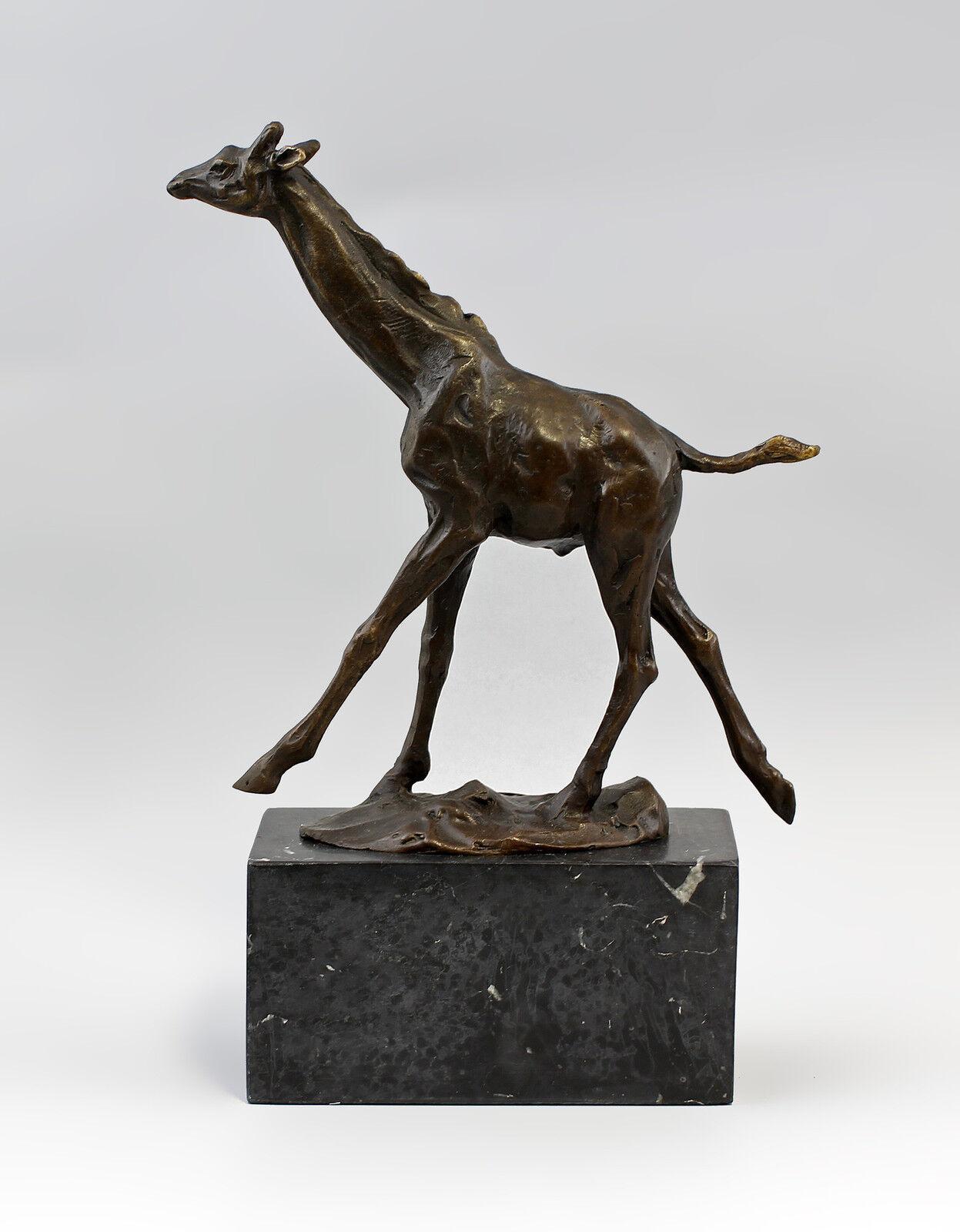 Skulptur Bronze Plastik Figur Giraffe 9937832