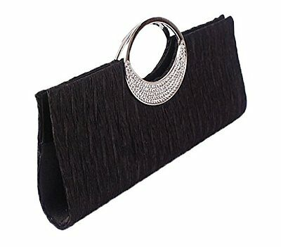 VINCENZA Damen Kristall Strass Abend Party Clutch Braut Portemonnaie Tasche UK