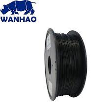 Wanhao Black PLA 1.75 mm 1 KG Filament for 3d printer - Premium Quality