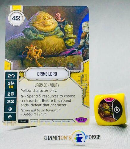 Star Wars Destiny Convergence ~ Crime Lord #49 w// Die