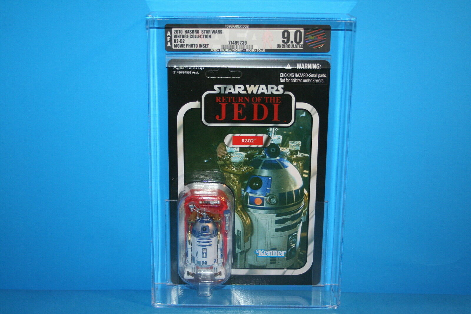 Figura De Estrella Wars autoridad Tvc menta en tarjeta graduada 2010 figura R2-D2 Regreso del Jedi   25 HASBRO  u  9.0