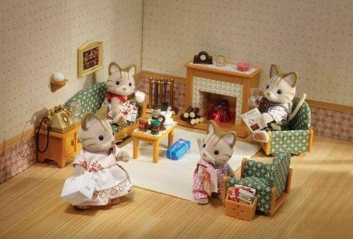 Sylvanian Families Deluxe Living Room, Luxury Living Room Set Sylvanian Families