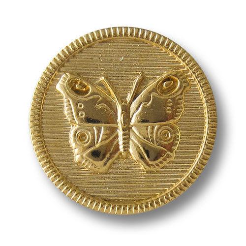 0233gg 5 encantadora brillante goldfb motivo botones de metal con mariposa