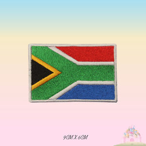 South-Africa-National-Flag-Embroidered-Iron-On-Patch-Sew-On-Badge-Applique