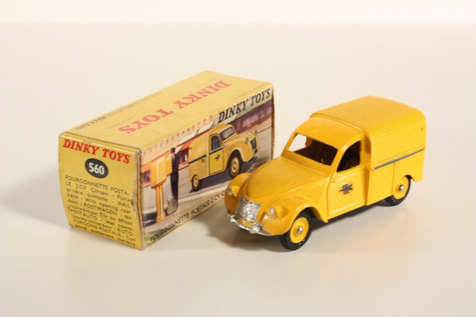DINKY TOYS 560, fourgonnette postale 2 CV Citroën, Comme neuf in box  ab2054