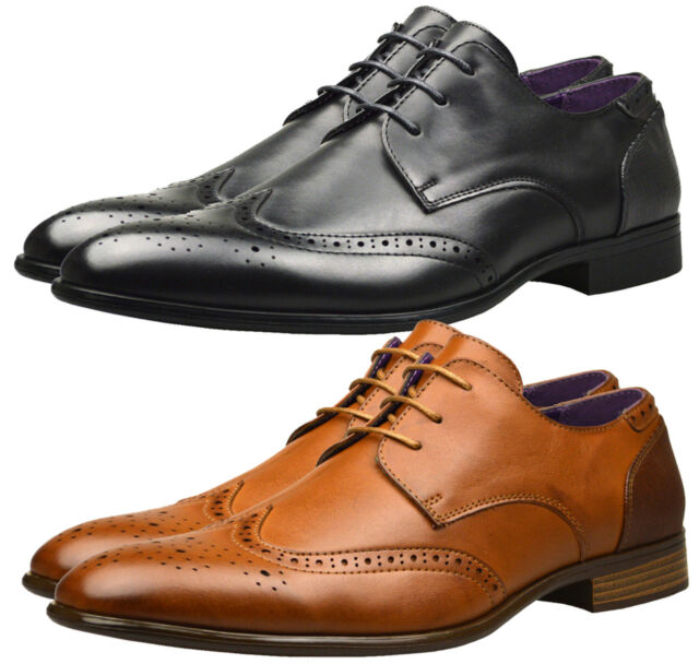 Mens New Leather Lined Formal Boots Italian Casual Brogue Office Wedding Shoes