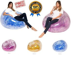 Sofa Fast Inflatable Lounger Colorful Glitter Lazy Bag
