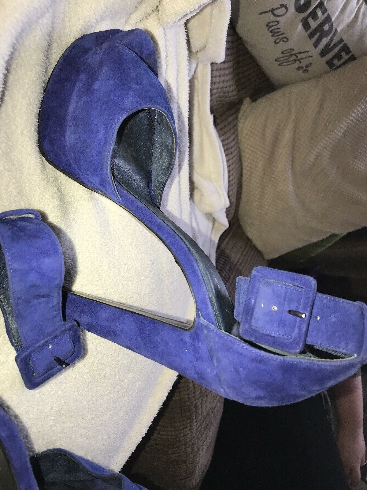 Cobalt bluee kurt geiger platform heels excellent condition UK8