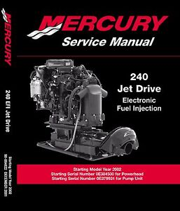 Mercury Marine 240 250 Hp M2 Jet Drive Service Manual 3 0