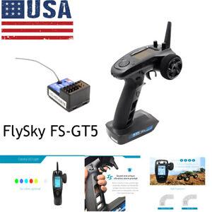 FlySky FS-GT5 AFHDS Transmitter W//FS-BS6 Receiver For RC Car Boat FAST SHIP L4N8