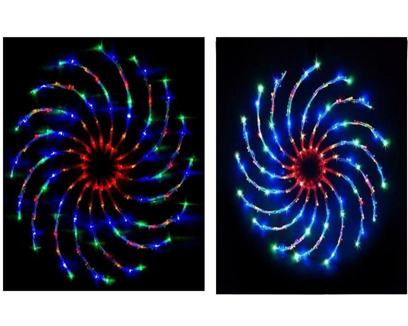 Nuevo 128 LED Luz de Hilandero De Navidad Navidad Decoración Interior Spinning espiral de múltiples