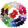 "20pcs 4"" Hair Bow Boutique Girl Baby Alligator Clip Grosgrain Ribbon Mixed Color"