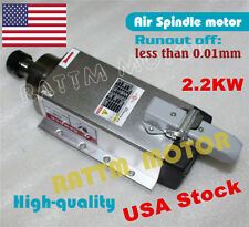 【US free ship】Square 2.2KW Air cooled Spindle Motor ER20 220V Mill CNC Engraving