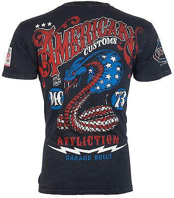 AFFLICTION Mens T-Shirt KISS DEATH American Customs USA FLAG Biker UFC S-3XL $58