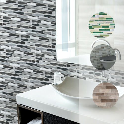 New Self Adhesive Mosaic Tile Wall Sticker Kitchen Bathroom PVC Wall Decal Home
