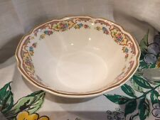 Mount Clemens Pottery MILDRED Round Vegetable Serving Bowl gold rim, floral pat