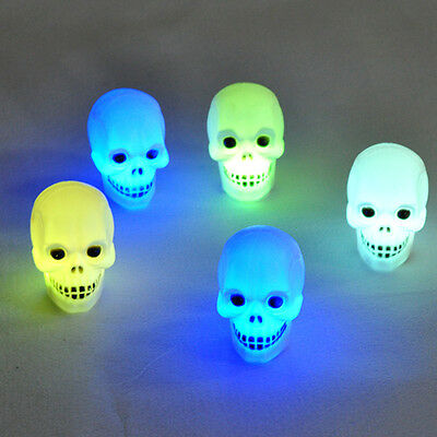 Holiday Flash Skull Grimace LED Lantern Night Light Lamp Halloween Decoration SK