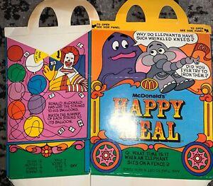 Vintage 1979 McDonald/'s 1st Happy Meal Box Circus Wagon Ronald /& Hamburglar