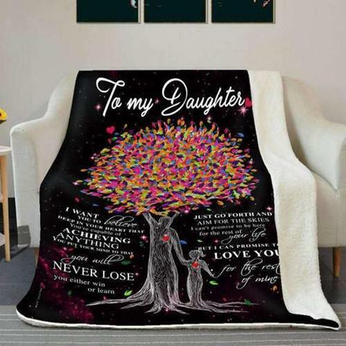 Dad Daughter Sofa Fleece Blanket 50-80 Love You For The Rest Of Mine