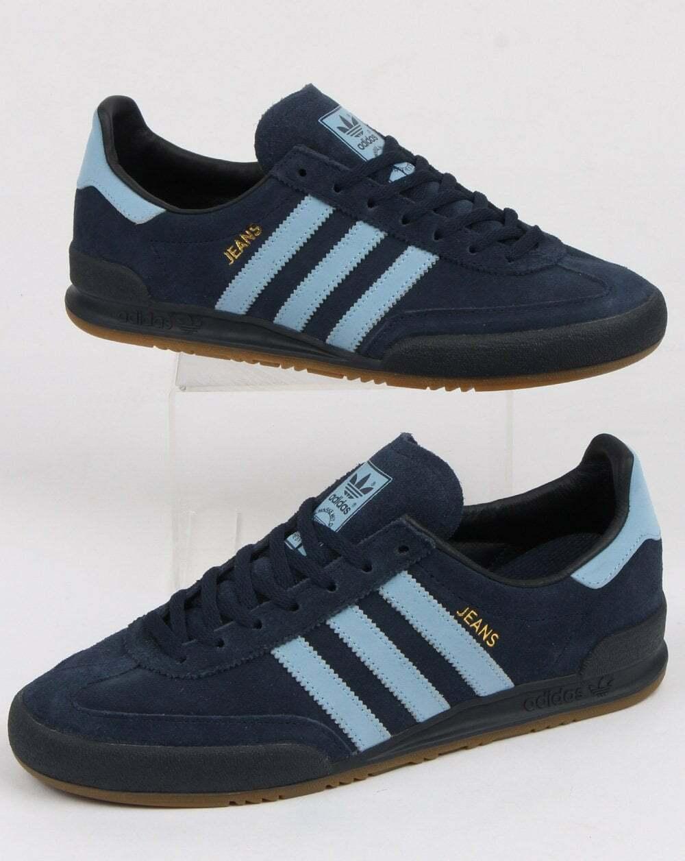 Mens adidas Originals Jeans MKII Mk2 Noble Teal Blue Suede