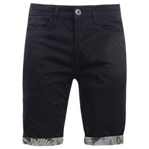 Mens Crosshatch Shorts Chino Denim Cotton Smart Casual Summer Holiday Half Pant